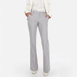 Express Editor Grey Plaid Trouser Career Pants